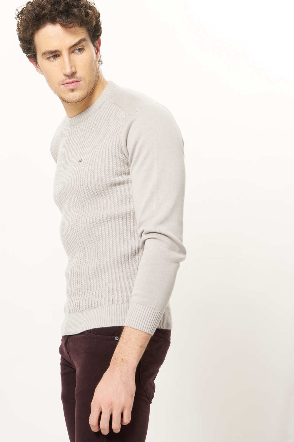 9480a5b5a Basics Muscle Fit Moonlight Crew Neck Sweater-17bsw36948