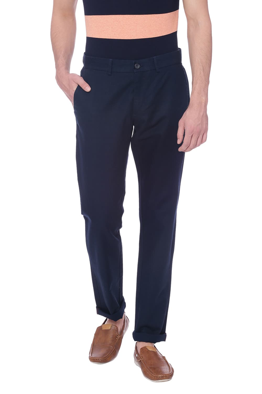 Basics Slim Fit Dress Blues Navy Trouser-18btr38366