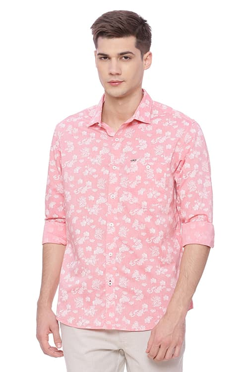 20091c5590 Buy Red Print 100% cotton Shirts For Men Online In India | Branded ...